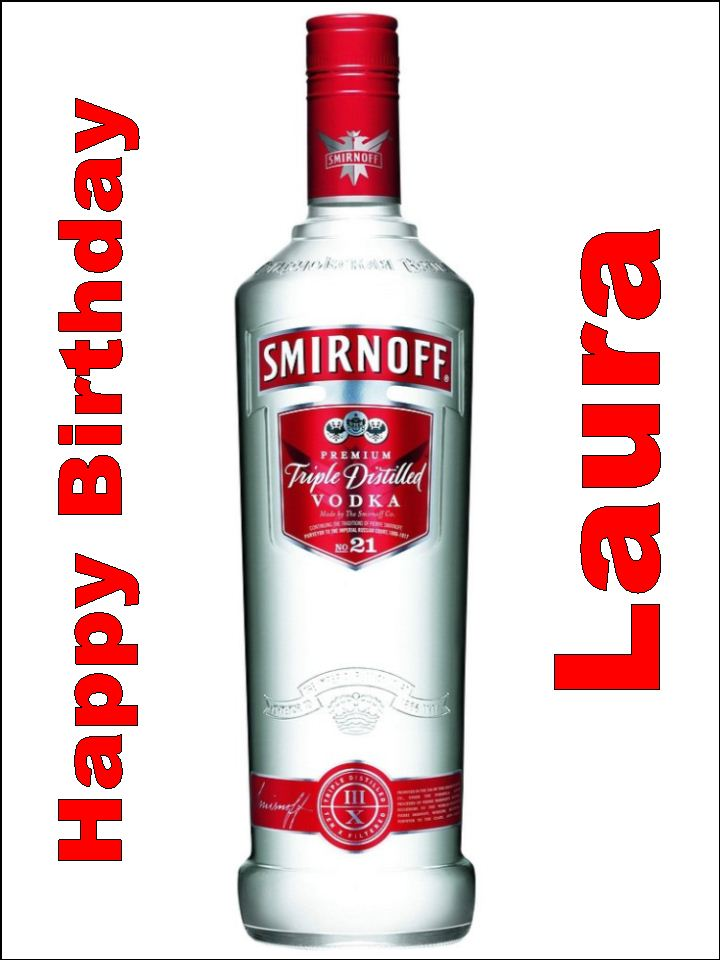 A4 Smirnoff Vodka Edible Icing Or Wafer Cake Topper