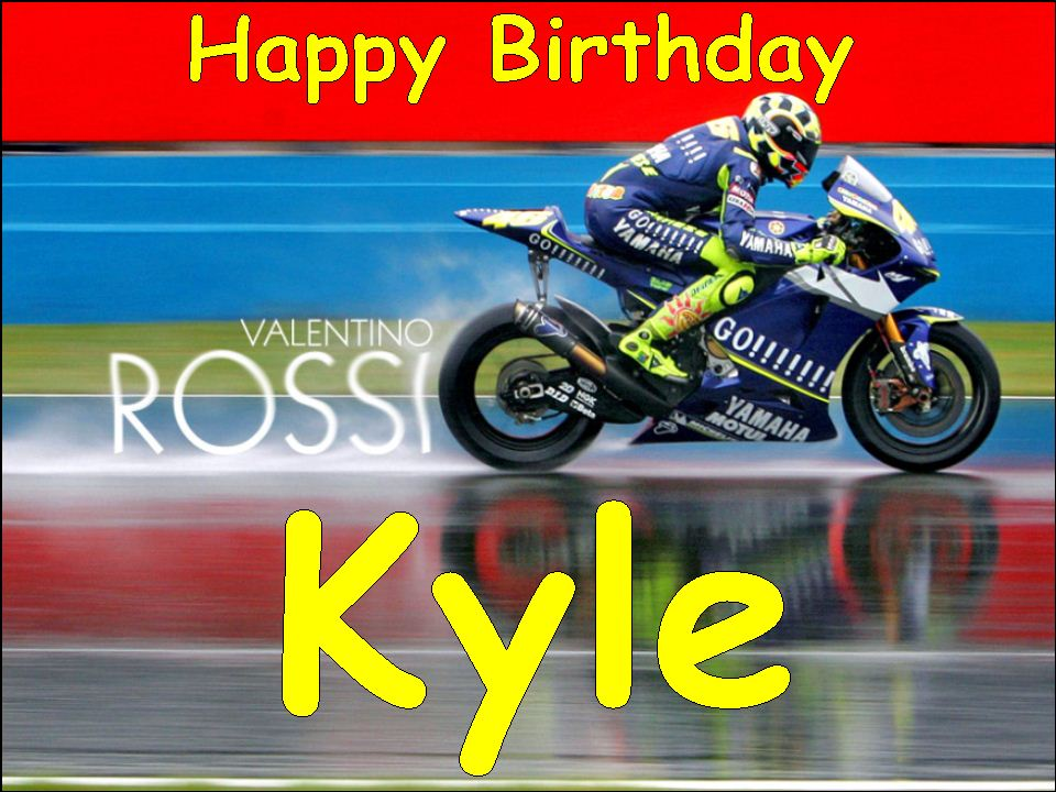 A4 Valentino Rossi Motorbike Edible Icing Or Wafer Cake Topper