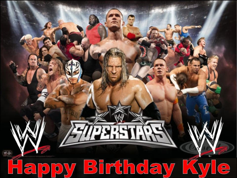 Outstanding A4 Wwe Personalised Edible Icing Or Wafer Cake Topper Personalised Birthday Cards Cominlily Jamesorg