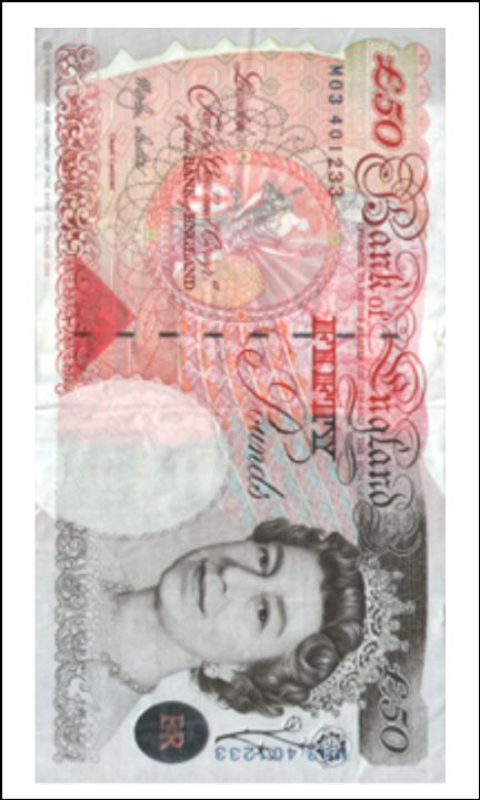 A5 Fifty Pound Note 50 Edible Icing Or Wafer Paper Cake